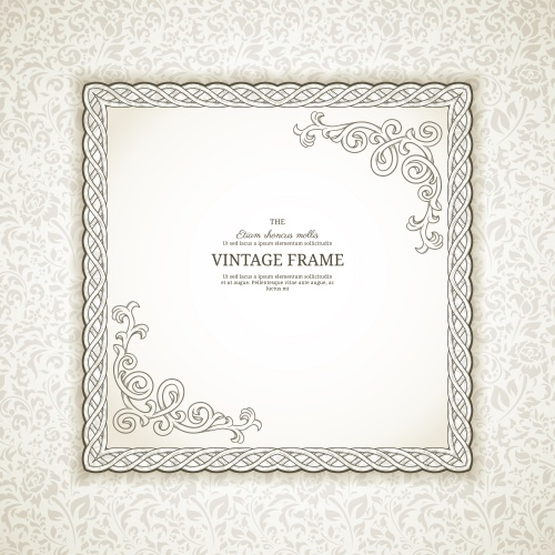 Винтажные элементы для сертификатов на светлом фоне / Vintage elements for certificate on white background - vector stock
