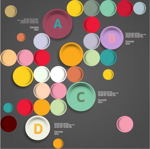 Futuristic infographic background