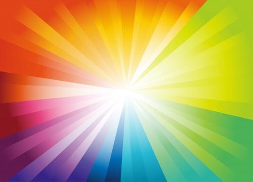 Абстрактные радужные фоны - векторный клипарт | Vector colorful abstract backgrounds