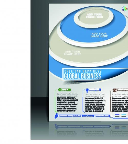 Бизнес флаеры брошюры и обложка журнала 20 | Business flyer brochure and magazine cover vector 20