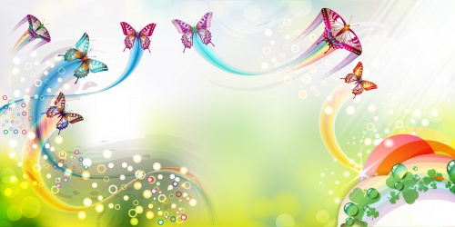 Summer Backgrounds with Butterflies Vector