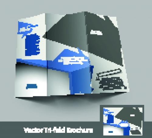 Брошюра из трёх страниц часть 42 | Tri fold business brochure vector set 42