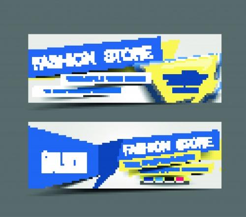 Современный горизонтальный баннер | Modern horizontal banners vector