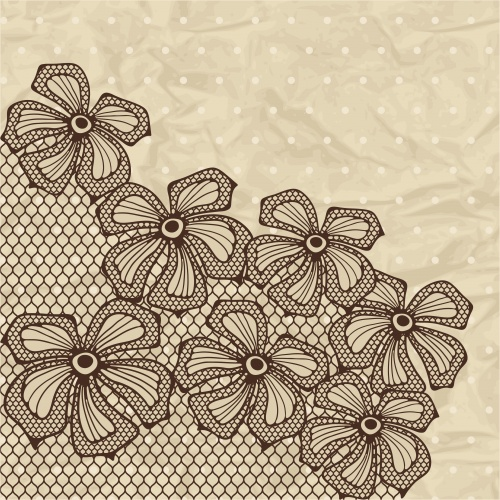 Винтажные кружевные фоны #10 - Векторный клипарт