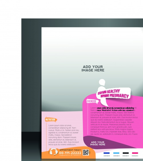 Business flyer brochure and magazine cover vector 17