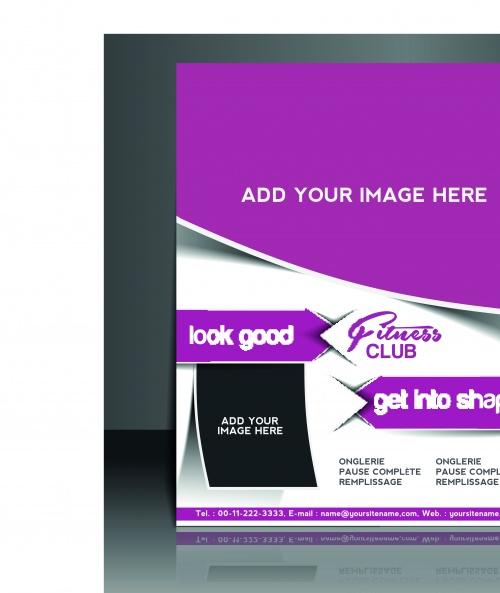 Бизнес флаеры брошюры и обложка журнала 18 | Business flyer brochure and magazine cover vector 18