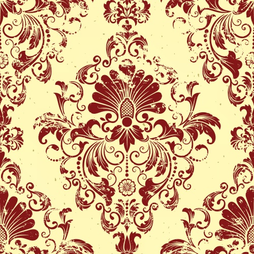 Vintage seamless pattern elements