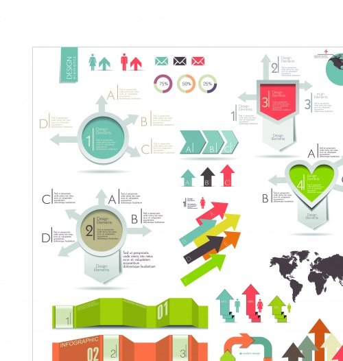 Infographic creative design vector set 95