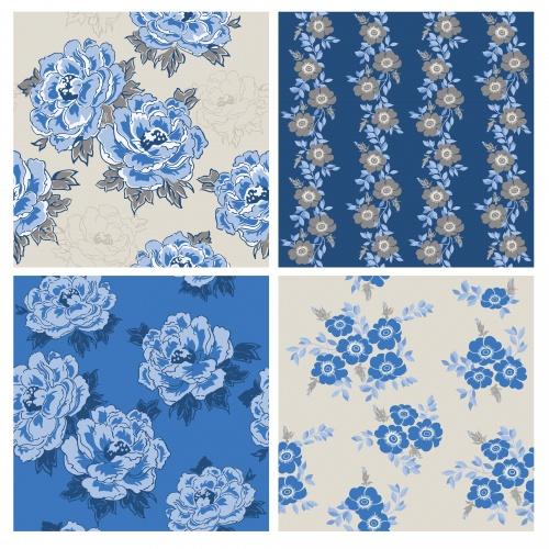 Цветочные винтажные элементы / Floral vintage elements - vector stock