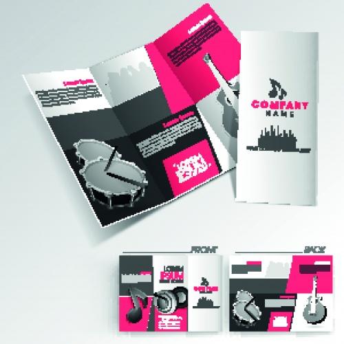 Брошюра из трёх страниц часть 41 | Tri fold business brochure vector set 41