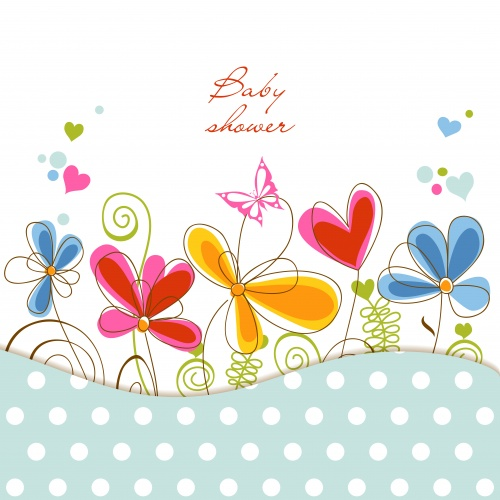 Cute Floral Cards Vector 2