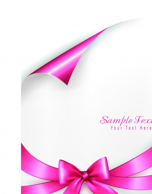 Пустой лист бумаги с лентой | Blank sheet with ribbon vector