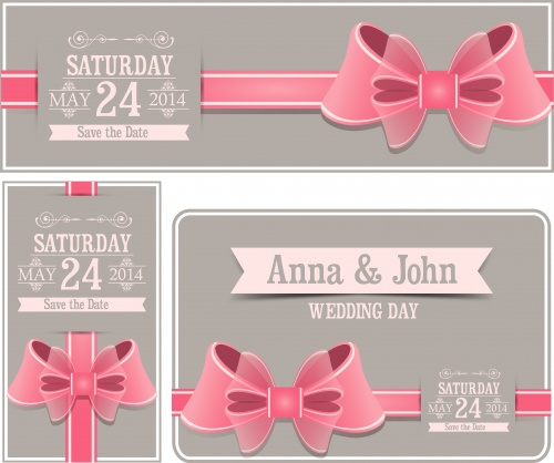 Wedding invitation - vector clipart