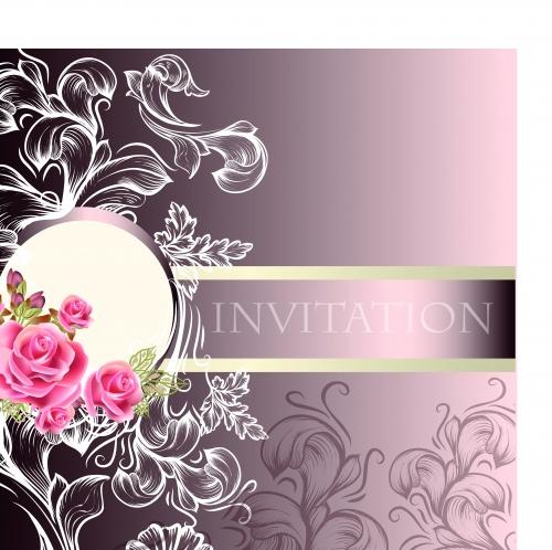 Роскошные свадебные пригласительные | Luxurious wedding invitation card vector