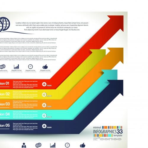 Инфографики креативный дизайн часть 98 | Infographic creative design vector set 98