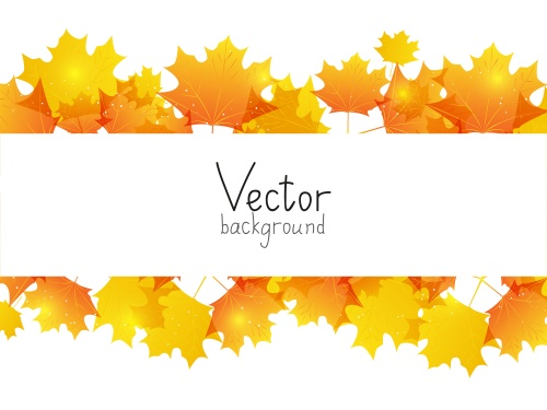 Autumn, autumn leaves - vector