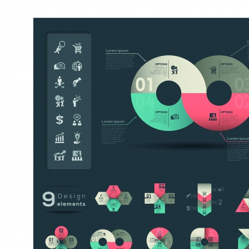 Infographic creative design vector set 94