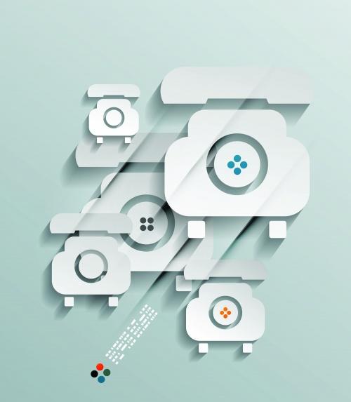 Phone 3D paper concept