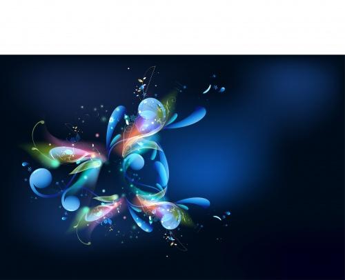 "Абстрактные векторные фоны - ""Яркий неон"" | Abstract vector backgrounds - ""Bright neon"""