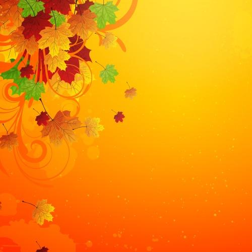 Осенние фоны с виноградом и тыквой / Autumn background with grapes and pumpkin - vector
