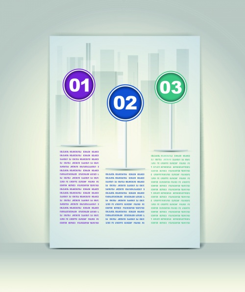 Modern Business Templates Vector 2