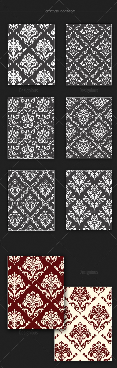 Seamless Patterns Vector Pack 122