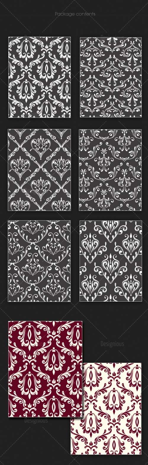 Seamless Patterns Vector Pack 124