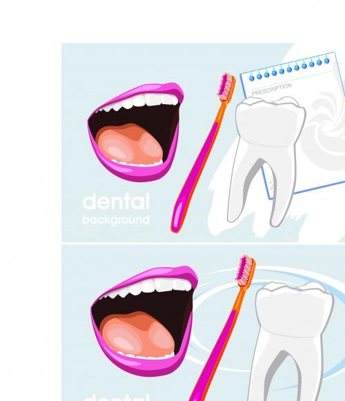 Рекламные постеры зубы | Dental advertising poster vector