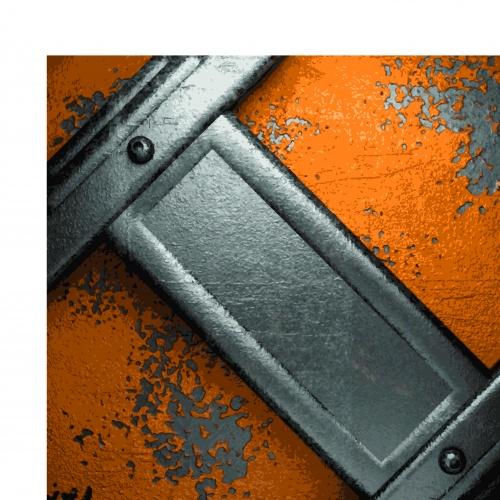 Металлические фоны в стиле гранж | Grunge metal background vector