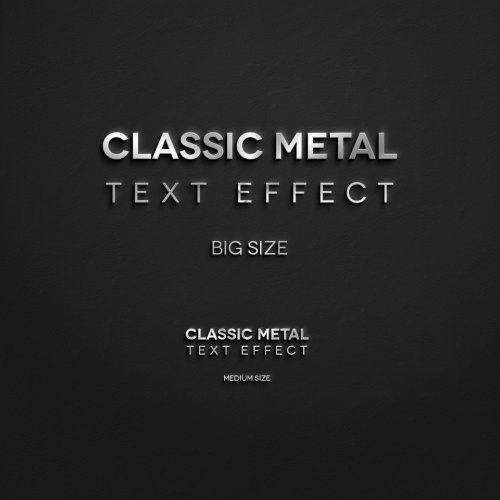Classic Metal Psd Text Effect