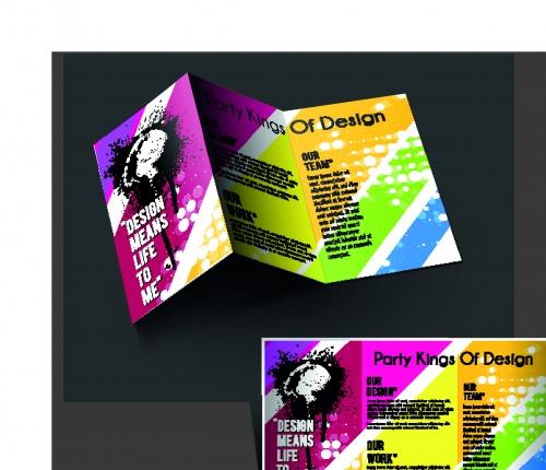 Брошюра из трёх страниц часть 40 | Tri fold business brochure vector set 40