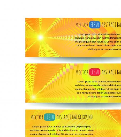 Горизонтальные абстрактные баннеры | Horizontal abstract banners vector