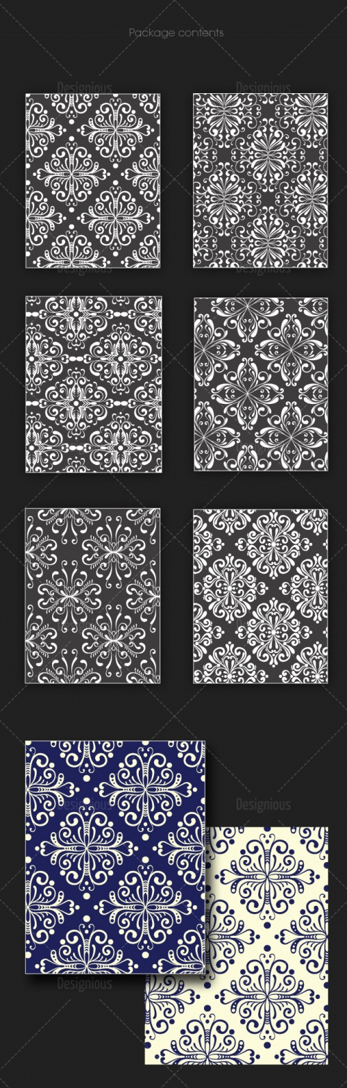 Seamless Patterns Vector Pack 123