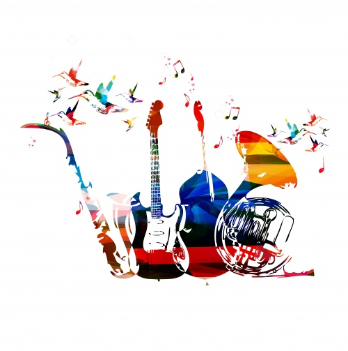 Instruments colorful background