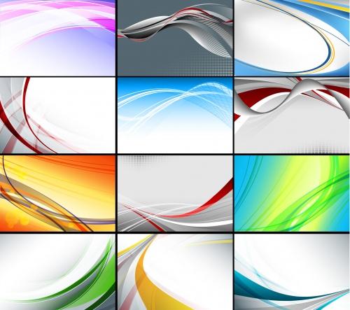 Абстрактные цветные фоны в векторе / Abstract color backgrounds in vector