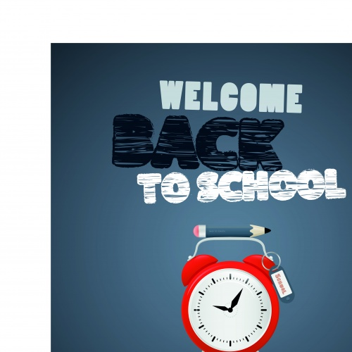 Скоро в школу концепция 4 | Back to school concept vector 4