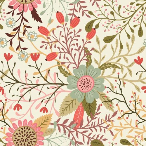Цветочные фантазии / Flower fantasy - Vector clipart