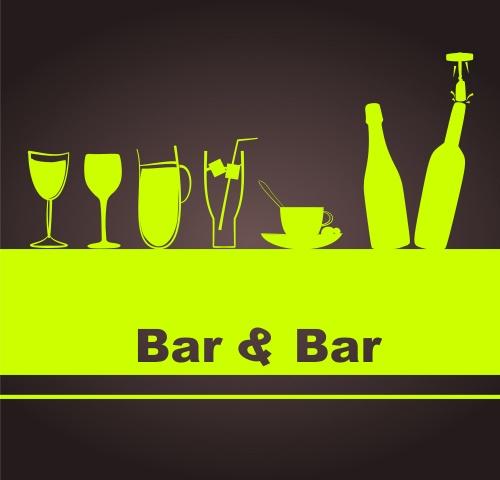 Меню для бара и бизнес слоганы / Bar menu and business slogan - vector stock