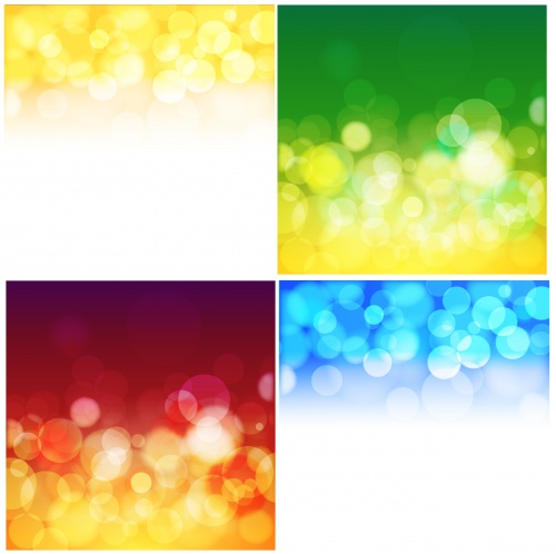 Blur Bubbles Vector Backgrounds