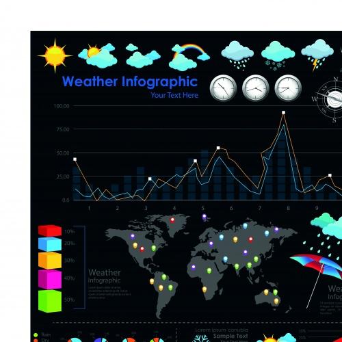 Инфографики и диаграммы часть 71 | Infographic and diagram design elements vector set 71