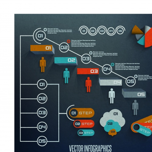 Инфографики и диаграммы часть 71 | Infographic and diagram design elements vector set 71