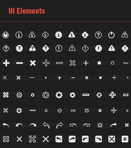 81 Vector Icons with UI Elements