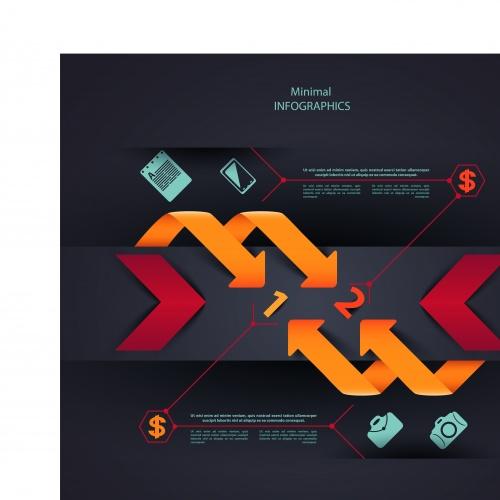 Инфографики креативный дизайн часть 85 | Infographic creative design vector set 85