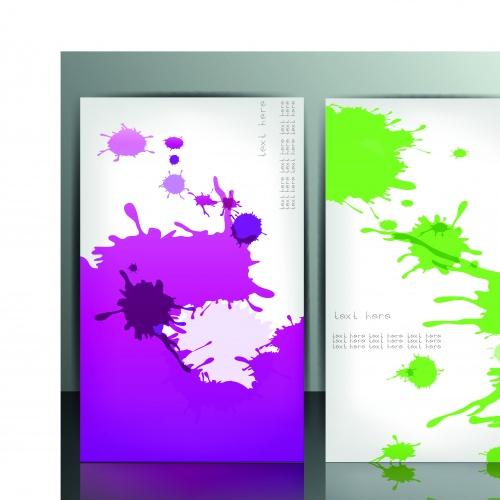 Баннеры кляксы краски | Banner with splash vector background