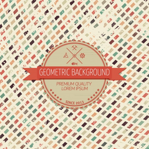 Vintage geometric background