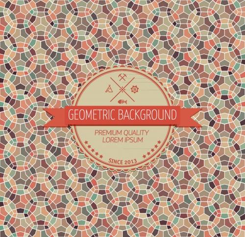 Vintage geometric background