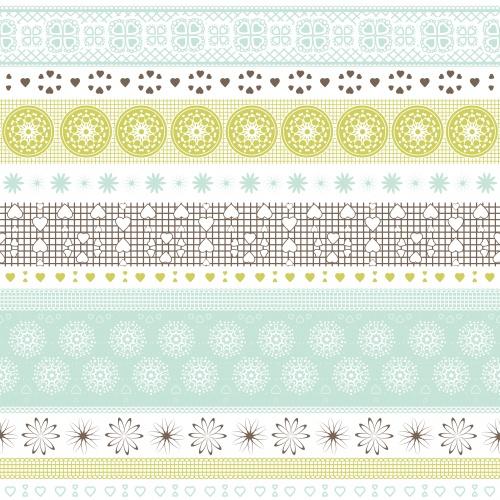 Цветные векторные орнаменты для дизайна / Background with color ornament in vector