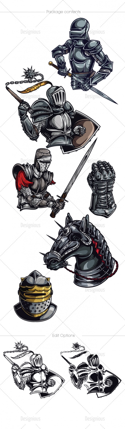 Knights Photoshop Vector Pack 2