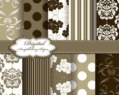 Stock: Set of vector abstract pattern paper for scrapbook