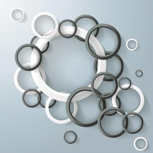 Абстрактные фоны с голубыми кругами в Векторе / Abstract backgrounds with blue circles in Vector